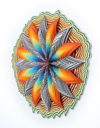 Counter Cosmo, 2011 Hand-cut paper, wood 30 x 30 x 5 inches
