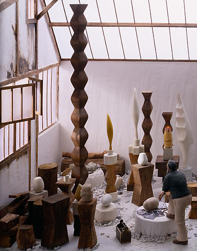 Constantin Brancusi, 1928  (detail), 2002-2003. Mixed media. 20.5 x 23.25 x 25.5 inches.