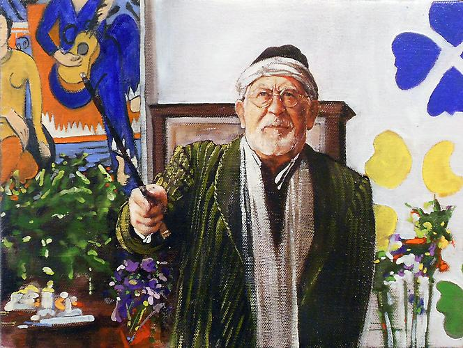 The Composer: Henri Matisse , 2012. Oil on canvas mounted on board and framed. 9 x 12 inches. 11 x 14 x 1.5 inches framed.