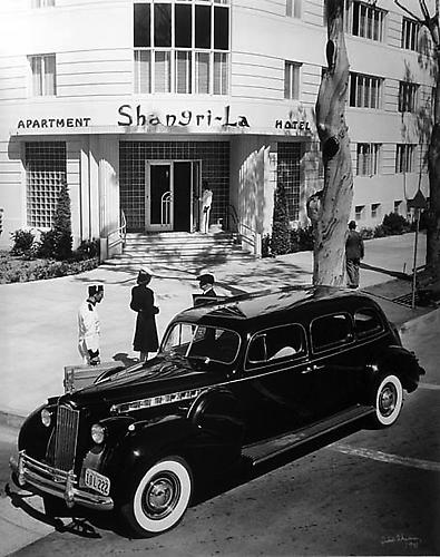 Julius Shulman Shangri-La Hotel, 1940 Gelatin silver print; Signed and dated on recto Image: 30 x 24 inches