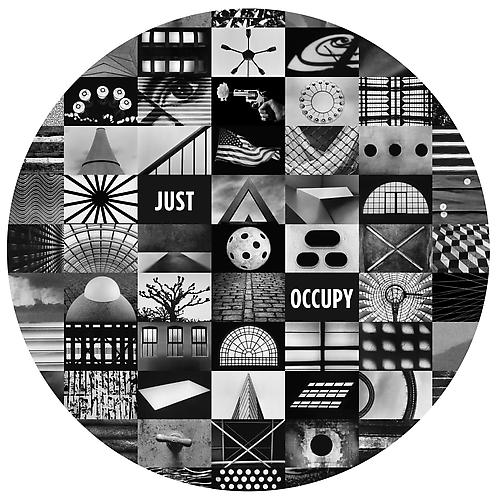 JUST OCCUPY, 2011 Archival digital pigment print Edition of 10 Image:  44.5 x 43.25 inches; Framed: 46.5 x 45.25 inches