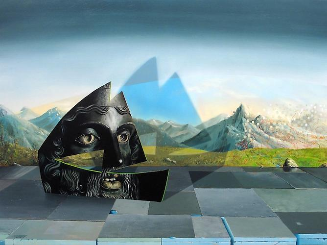 Kirsten Deirup  Warrior Ark, 2012 Oil on panel 30 x 40 inches