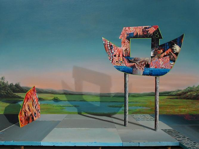 Kirsten Deirup  Flood, 2012 Oil on panel 30 x 40 inches