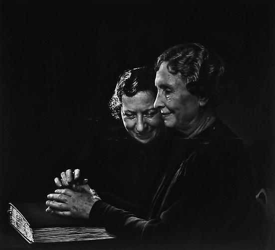 Helen Keller With Polly Thompson 1948 gelatin silver print
