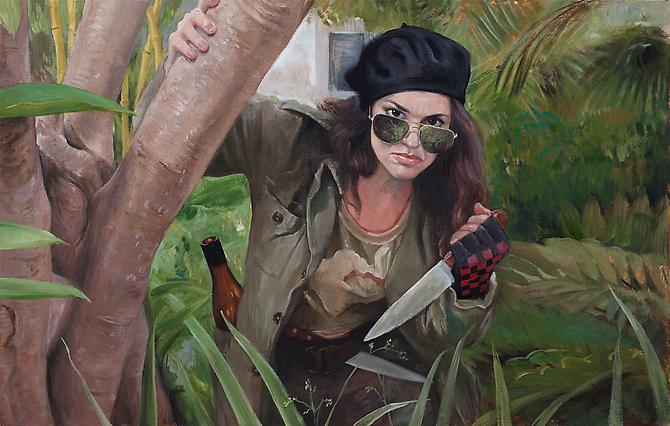Katya, 2012 Oil on linen 33 x 21 inches