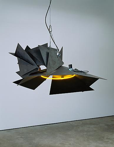 Night Session, Kelp, 1996 steel, neon and halogen 24 x 33 x 41 inches