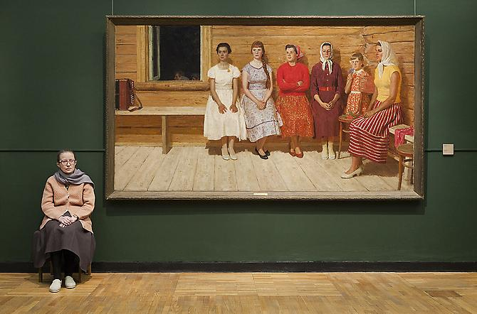 Andy Freeberg,  Yuri Kugach's Before the Dance, State Tretyakov Gallery , 2009 Archival pigment print