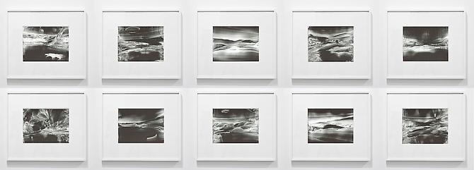 Roland Flexner Untitled, 2012 liquid graphite on yupo 9 x 12 inches 22.9 x 30.5 cm frame size: 17 3/4 x 20 3/4 inches 45.1 x 52.7 cm