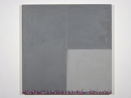 600 Dots , 1999, oil on canvas, 20 x 20 inches