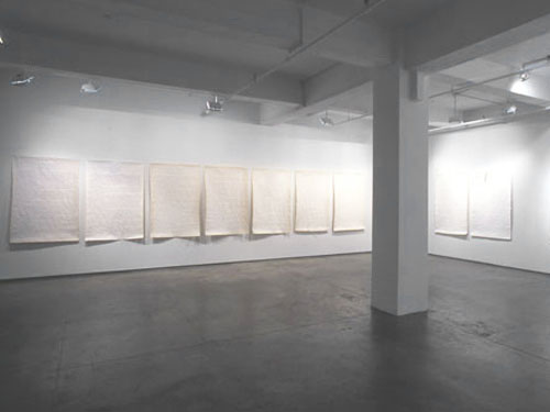 Nine Broken Letters , 2004, installation view, Josée Bienvenu Gallery, New York