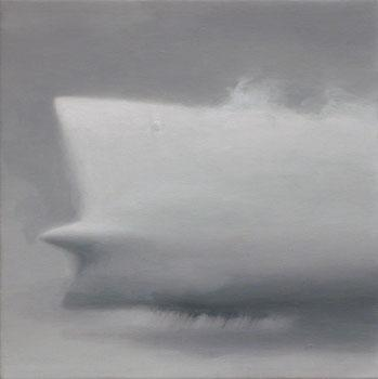 Cadillac Cloud , 2006, oil on linen 6 x 6 inches