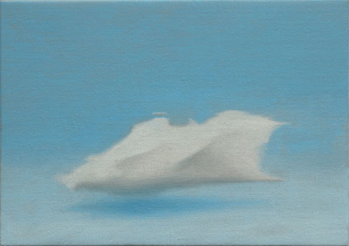 Cloud Ship , 2006, oil on linen 5 x 7 inches