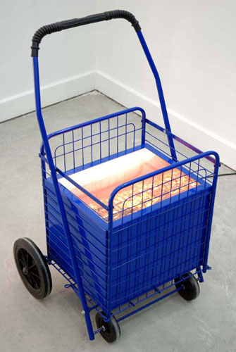 Patrick Hamilton, 2006, Shopping Cart, Cart, light box, Duratrans,  18.1 x 33.5 x 18.9 inches