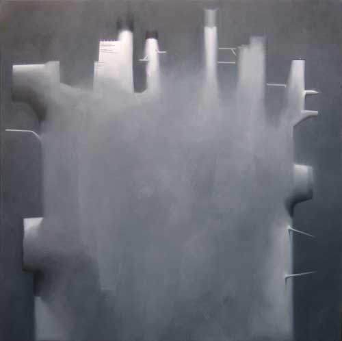 Rig #3 , 2007, oil on linen, 48 x 48 inches