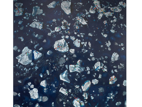 Ice , 2006, oil on linen, 48 x 48 inches