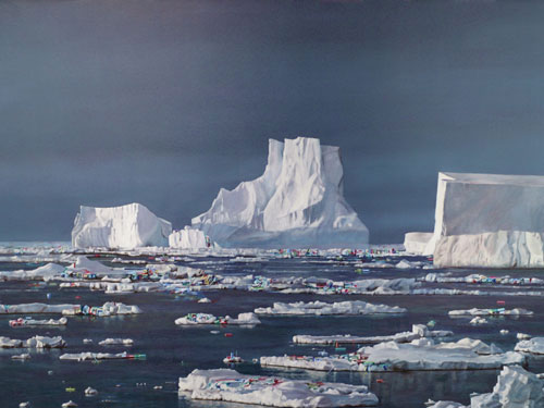Iceberg , 2006, oil on canvas, 48 x 66 inches