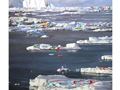 Iceberg (detail) , 2006, oil on canvas, 48 x 66 inches