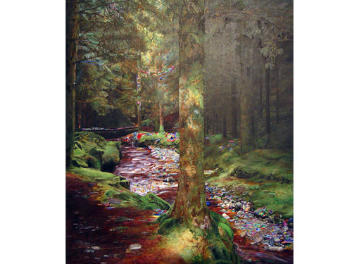 Gorten Glen Forest Park , 2006, oil on canvas, 56 x 48 inches