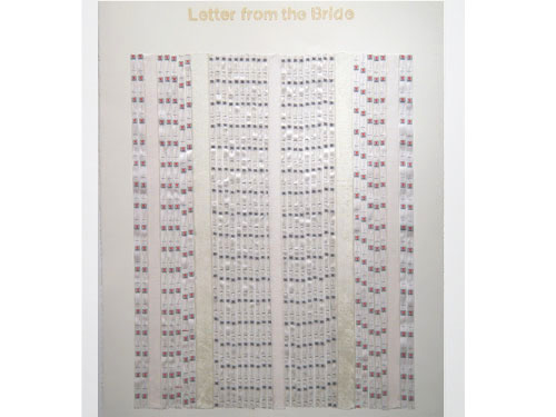 Letter From the Bride #52 , 1996, mixed media on paper, 30 x 22.5 inches