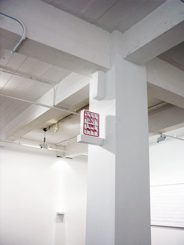 PARKING ANY TIME , 2010, installation view, cuts on paper, plexiglas, 11.5 x 9 x 2.5 inches