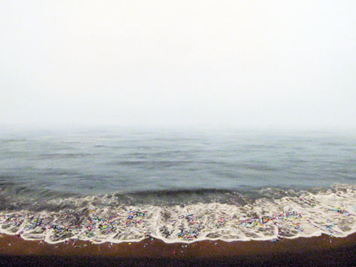 Tide , 2006, oil on linen, 52 x 72 inches