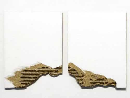 Untitled (Diptych) , 2011, oil on cardboard, 17 x 13.5 inches each