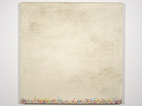 Dot Painting White , 1999, oil on canvas, 20 x 20 inches