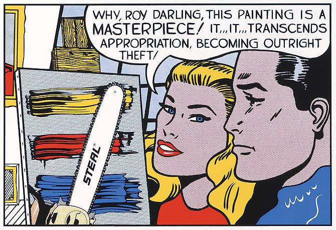 "Roy Lichtenstein ""Why, Roy Darling,"" 1962 Screenprint on paper Ed. 12 30 x 40 inches"