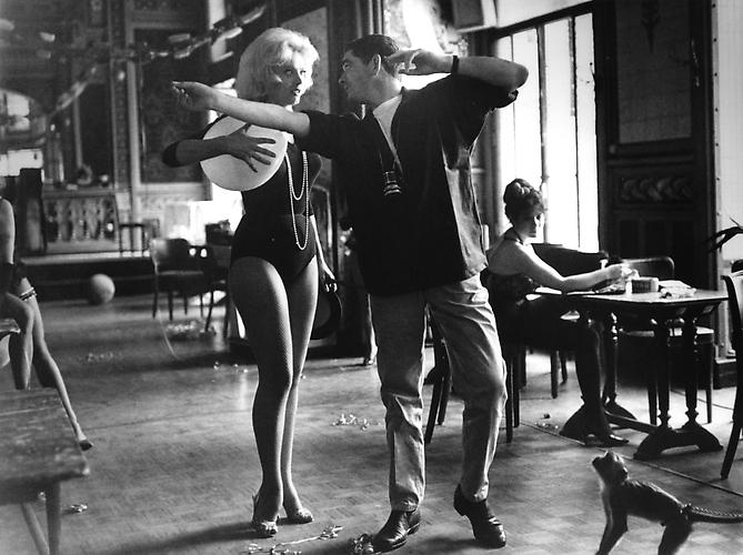 Jacques Demy shows dance steps to Corinne Marchand (Lola) 1960 gelatin silver print