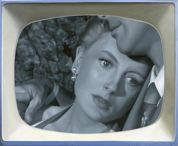 Late Night #15: Deborah Kerr, 2008 Oil on linen 30 x 36 in. 76.2 x 91.4 cm