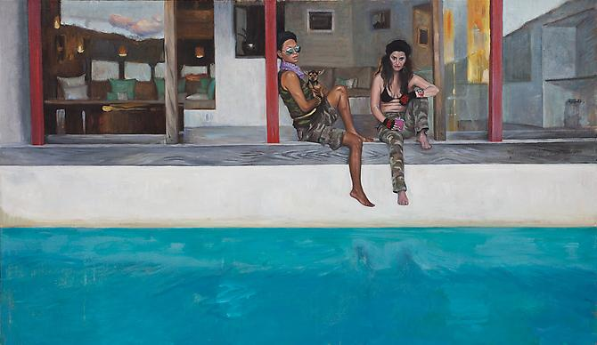 Lavender Bandana, 2010 - 2011 Oil on canvas 28 x 48 inches
