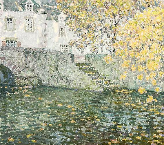 Automne d'oré, Quimperlé, 1923 Oil on canvas, 28 x 32 inches Signed lower left: Le Sidaner Price upon request