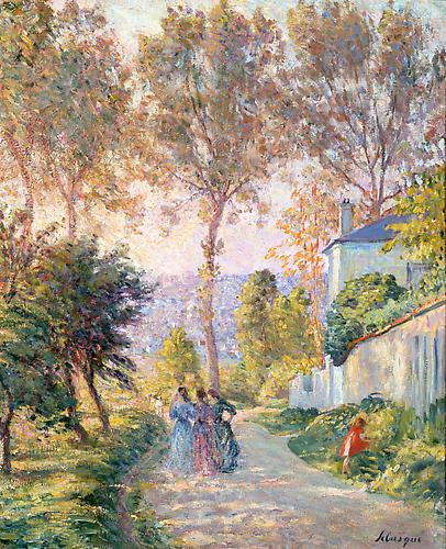 SOLD HENRI LEBASQUE (French, 1865-1937)  La Promenade, c. 1903-1905 Oil on canvas, 24 x 19 ¾ inches (34 x 30 inches framed)