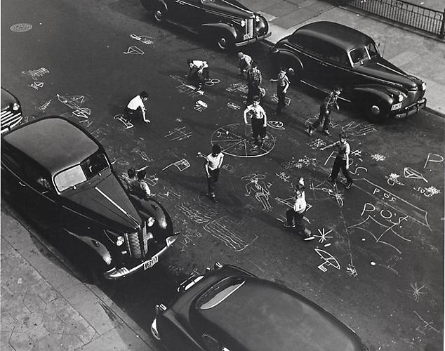 Chalk Games, New York 1950 Gelatin silver print