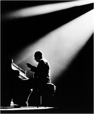 Herman Leonard, Duke Ellington, Olympia Theater, Paris 1958