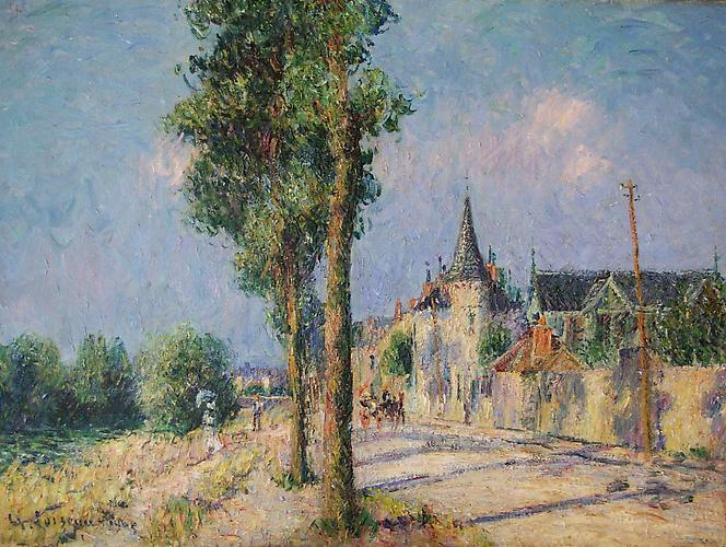 SOLD Le Quai de Pothuis, Pontoise, 1905 Oil on canvas, 21 ½ x 28 ¾ inches  (54.6 x 73 cm) Signed and dated lower  left: G Loiseau 1905
