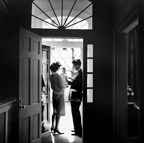 """Leaving for the Senate"" Georgetown, Washington D.C. Spring, 1959 Gelatin Silver Print"