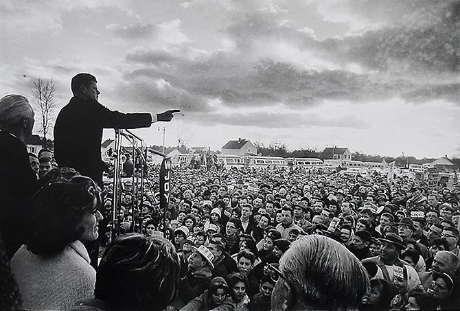 """Campaigning in Kansas"" General Election Campaign Fall, 1960 Gelatin Silver Print"
