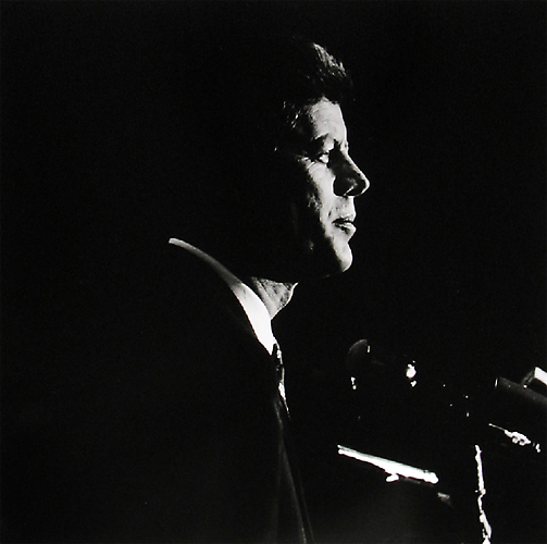 """Profile"" Texas-Massachusetts Caucus, Los Angeles July, 1960 Gelatin Silver Print"