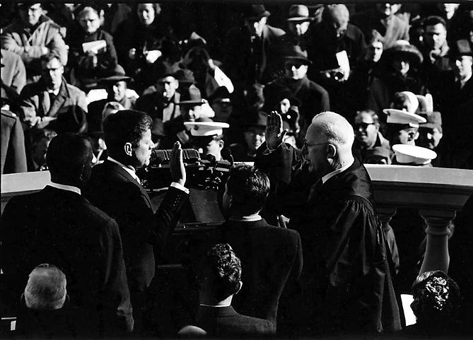 """Do not ask..."" John F. Kennedy Swearing In, Inauguration, Washington D.C January 20, 1961 Gelatin Silver Print"
