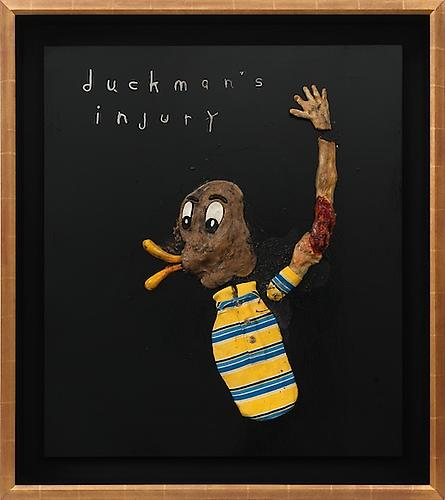 DAVID LYNCH  Duckman's Injury , 2012  Mixed media 27 x 31 inches