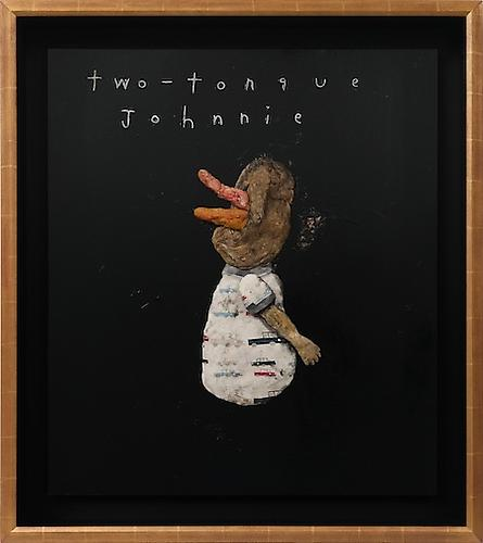 DAVID LYNCH  Two-Tongue Johnnie , 2012  Mixed media 27 x 31 inches