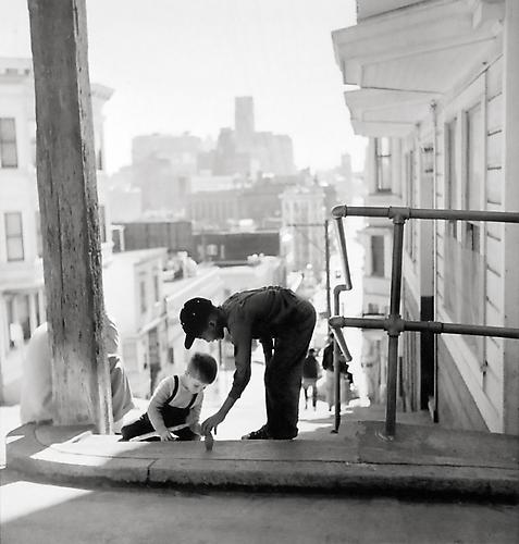 North Beach-Kearny and Fresno, San Francisco 1952 gelatin silver print