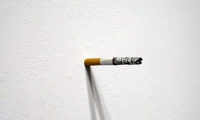 Untitled (Cigarette) , 2012, oil on clay