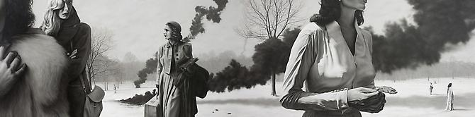Massacre Of The Innocents, 2010 Oil on canvas 48 x 192 inches