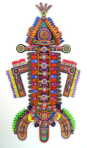 Chromasoul, 2011 paper, acrylic, gator board and glue 41 x 21 x 4.5 inches