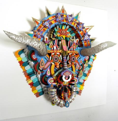 Babooma, 2010 cut paper, bristol board, and glue 36 x 36 x 10 inches