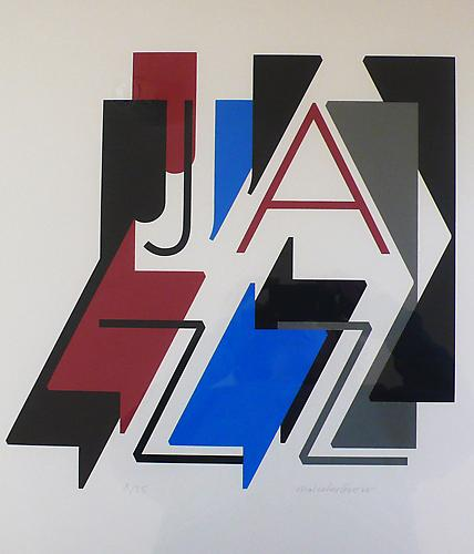 Malcolm Grear  Jazz , 2005 silk screen print, 23.63 x 23.63 inches Listing #19