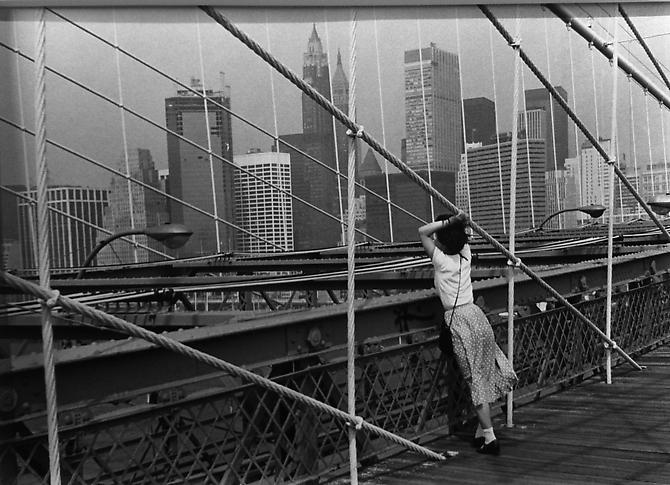 Le pont de Brooklyn, New York 1982 gelatin silver print
