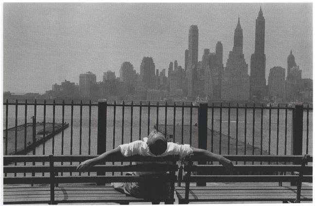 Manhattan from the Brooklyn Promenade  1954 gelatin silver print